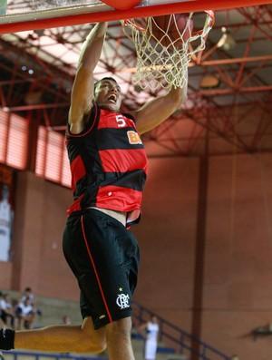 Feliz Flamengo basquete (Foto: Bruno Spada/LNB)