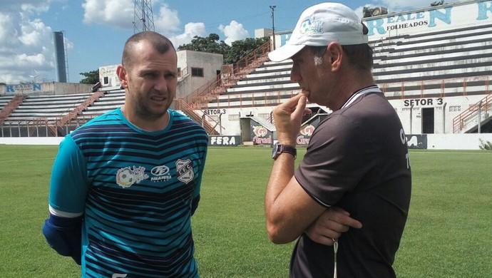 Marcelo Bonan Goleiro Ivan Izzo Treinador Independente-SP Galo (Foto: Jonathan Bueno / Independente FC)