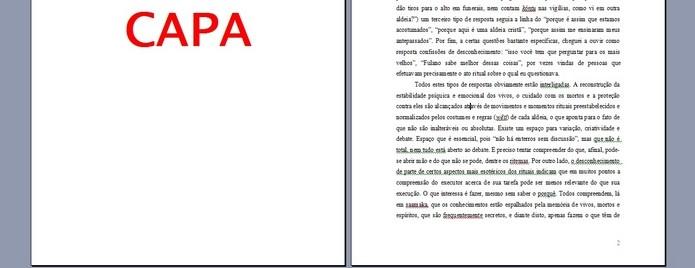 Primeira página sem numeração, mas sequência começa no 2 (Foto: Reprodução/ Raquel Freire)