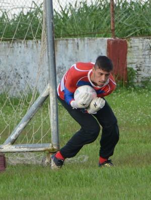 Lucas Covolan goleiro do Rio Branco (Foto: Duaine Rodrigues)