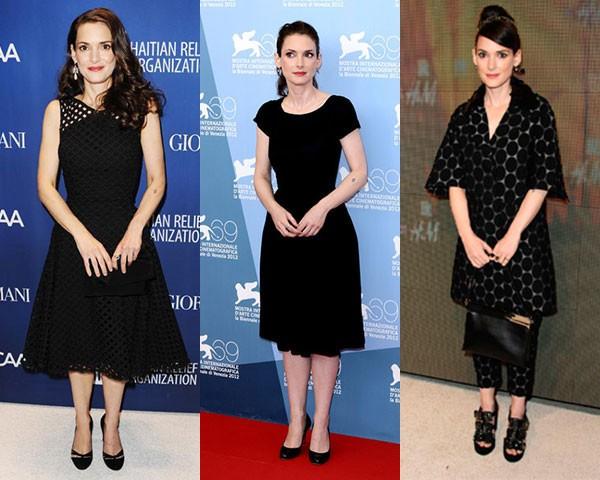 Black total: a atriz opta, na maioria das vezes, pelo monocromático (Foto: Getty Images, Instagram)