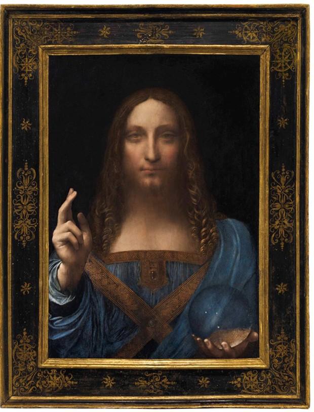 """A obra """"Salvatore Mundi""""de Leonardo da Vinci  (Foto: Reprodução Christie's)"""