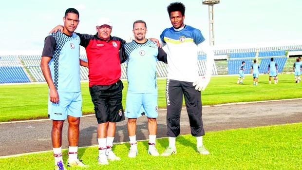 Charles Vagner, Freitas, Marabá e Pantera, campeões de 2008 (Foto: Leonardo Silva / Jornal da Paraíba)