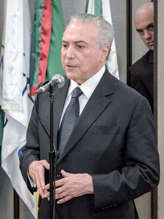 Presidente Michel Temer,velório do Ministro Teori Zavascki (Foto: Anderson Astor/ÉPOCA)