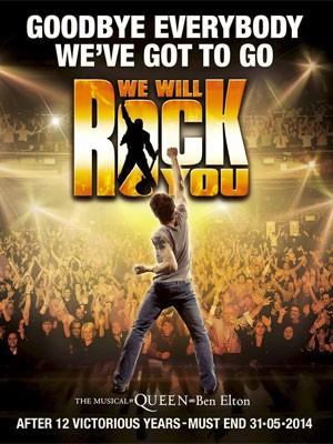 Pôster de despedida do musical 'We will rock you' (Foto: Divulgação)