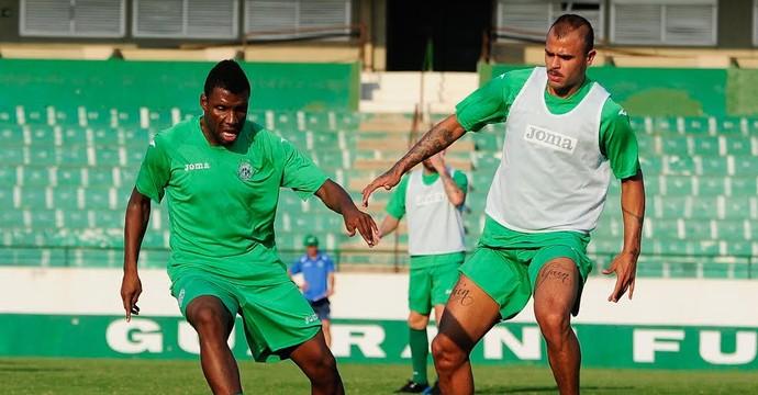 Allan Dias e Clementino treino Guarani (Foto: Rodrigo Villalba / Memory Press)