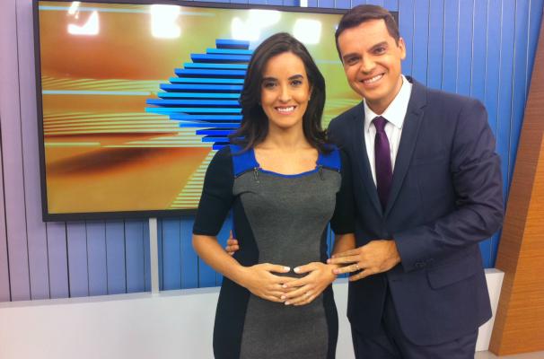 Maíra e Léo estão 'grávidos' de 14 semanas (Foto: Rafaella Fraga/RBS TV)