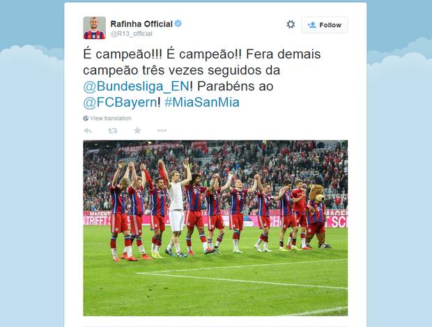 Rafinha comemora titulo do Bayern de Munique