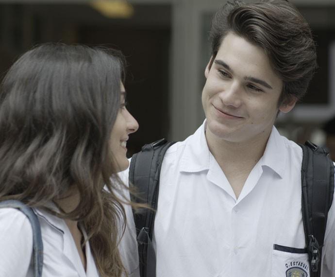 Lu e Digo no maior climaa! (Foto: TV Globo)