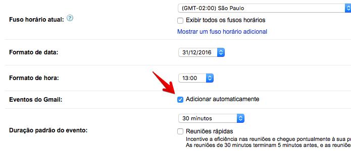 Desativando eventos encontrados no Gmail (Foto: Reprodução/Helito Bijora)