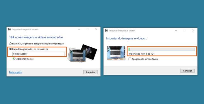 Importe todos os arquivos da câmera para salvar no computador via USB (Foto: Reprodução/Barbara Mannara)