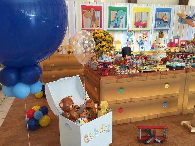Decoração da festa do filho de Fernanda Gentil (Foto: Instagram / Reprodução)
