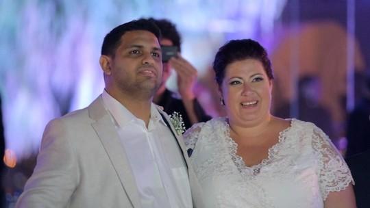 Casal ganha 'casamento de novela' no quadro Felizes Para Sempre