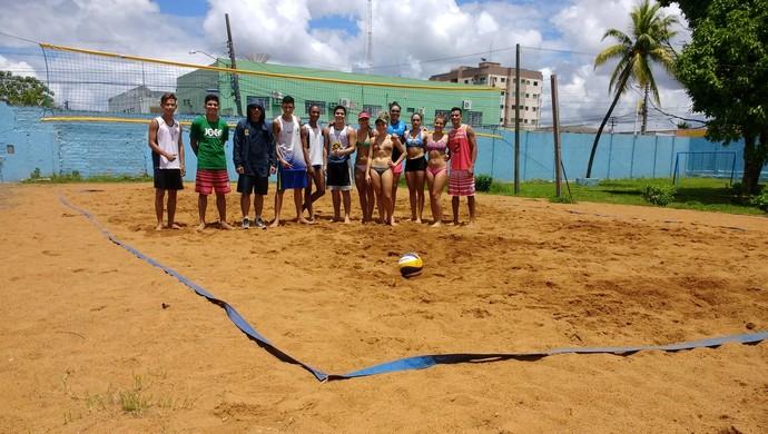 Atletas de RO se preparam para Circuito Nacional de Vôlei de Praia (Foto: Jheniffer Núbia/GloboEsporte.com)