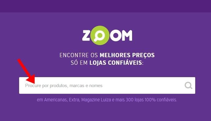 Busque por um produto no Zoom (Foto: Reprodução/Paulo Alves)