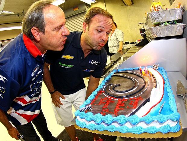 Aniversário de Rubens Barrichello e o Pai (Foto: Carsten Horst / MPTeam)