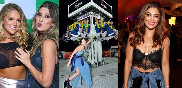 Gabi Lopes, Dani Calabresa, Juliana Paes e Ana Paula Renault (Foto: Ed. Globo)