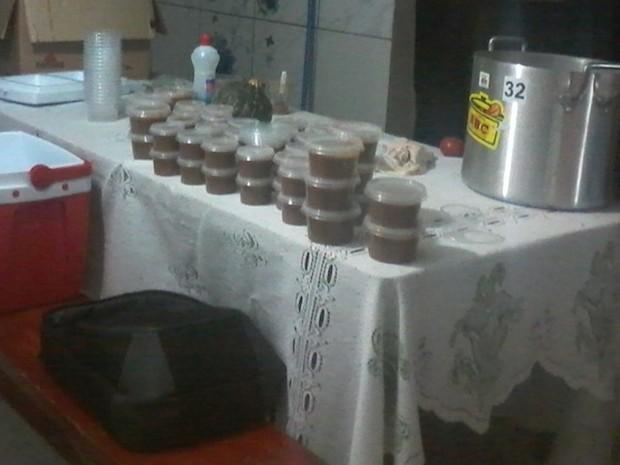 Alimentos da terceira noite foram doados para hospital (Foto: Divulgacão/Kariany Ferreira)