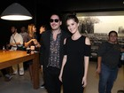 Nathalia Dill posa com o ex-marido em pré-estreia de filme no Rio
