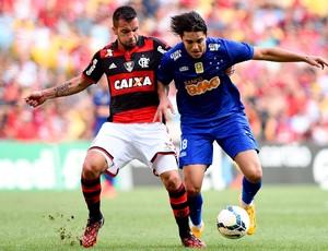 Flamengo x Cruzeiro - maracanã Marcelo Moreno e Canteros (Foto: Getty Images)