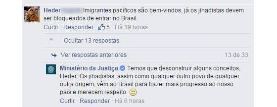 """Ministério da Justiça diz que """"jihadistas vêm ao Brasil para trazer mais progresso"""" (Foto: Reprodução)"""