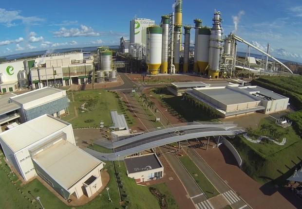 Vista aérea da fábrica da Eldorado Papel e Celulose (Foto: Divulgação)