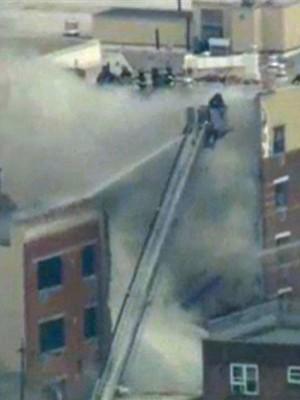 2 prédios desabam parcialmente em Nova York após explosão (Reprodução/GloboNews)