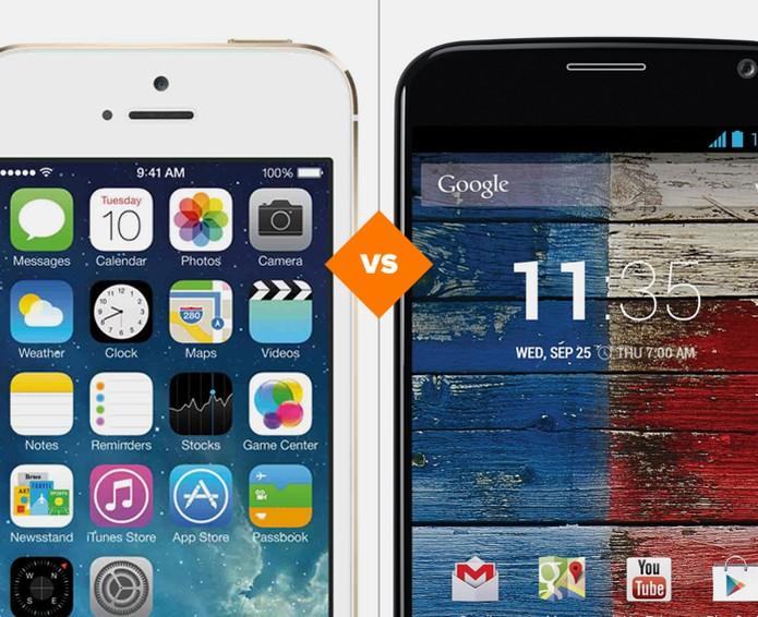 iPhone 5S ou Moto X, qual dos smarts sairá melhor nesta disputa (Foto: Arte/ TechTudo)