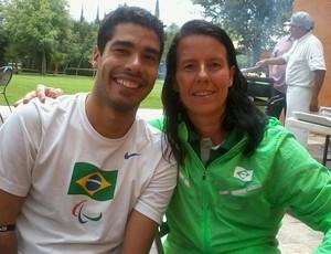 Susana Schnarndorf Daniel Dias mundial paralímpico de natação (Foto: Reprodução Facebook)