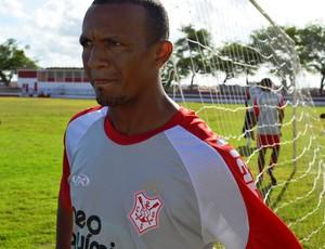 Lindoval, novo atacante do Sergipe (Foto: Felipe Martins/GLOBOESPORTE.COM)