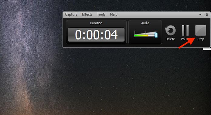 Finalizando a gravação da tela do computador com o Camtasia Studio (Foto: Reprodução/Marvin Costa)