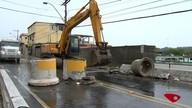 Moradores reclamam de trânsito em região onde pedra rolou em Vila Velha