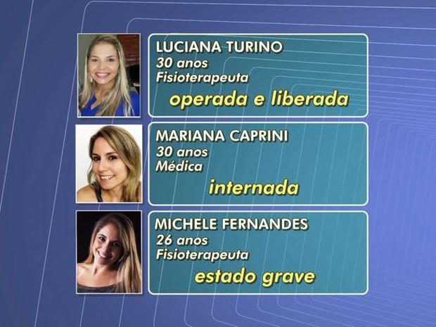 Estado de saúde de sobrevivente de acidente em Guarapari, Espírito Santo, é grave (Foto: Reprodução/TV Gazeta)