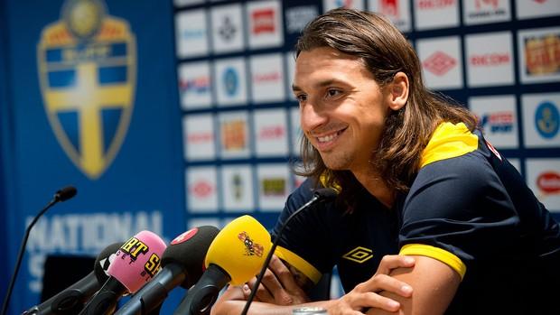 Ibrahimovic, PSG, Coletiva, Suécia (Foto: Agência AFP)