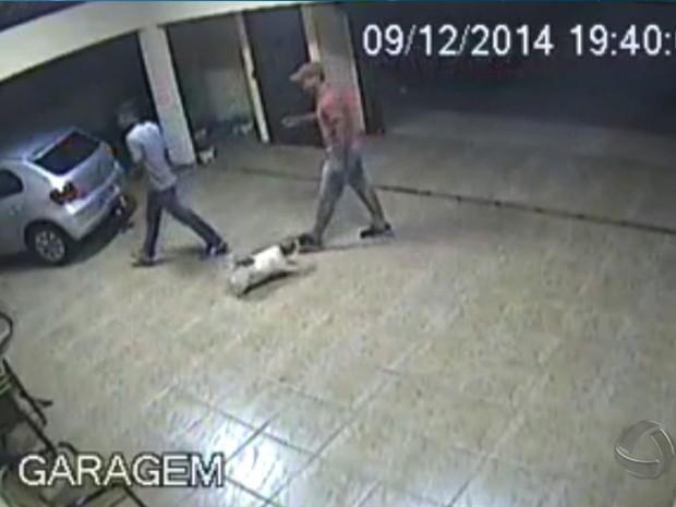 Família é feita refém durante assalto em Campo Grande (Foto: Reprodução/TV Morena)
