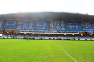 Mosaico feito pela torcida do Paysandu contra o Macaé, no Mangueirão (Foto: Fernando Torres/Ascom Paysandu)