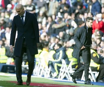 Zidane Simeone Real Madrid Atlético de Madrid (Foto: AFP)