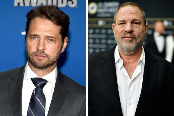 Jason Priestley e Harvey Weinstein (Foto: Getty)
