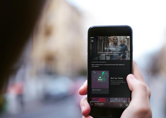 Spotify Running sugere músicas com base no ritmo de corrida do usuário (Foto: Divulgação/Spotify)