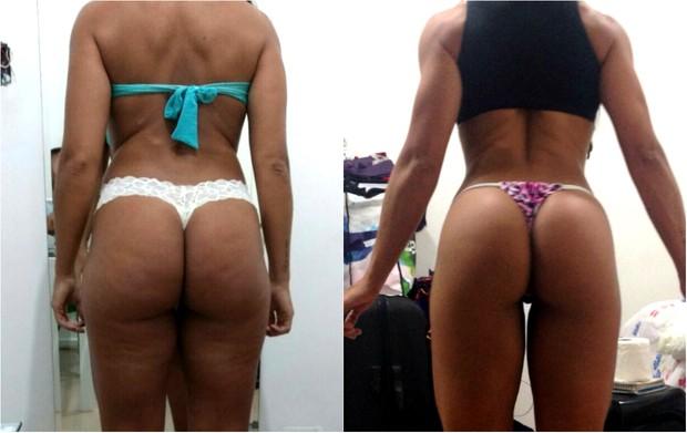 Musa fitness Carol Porcelli mostra o antes e depois de seu corpo (Foto: Divulgação / MF Assessoria)