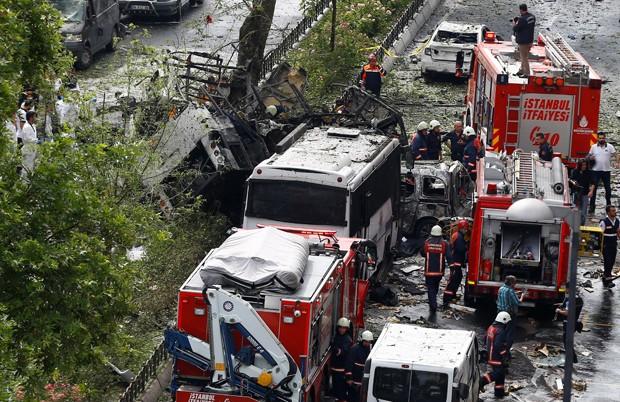 Atentado deixou 11 mortos nesta terça-feira (7) em Istambul (Foto: Osman Orsal/Reuters)