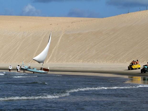 Praia de Jenipabu (Foto: Canindé Soares)