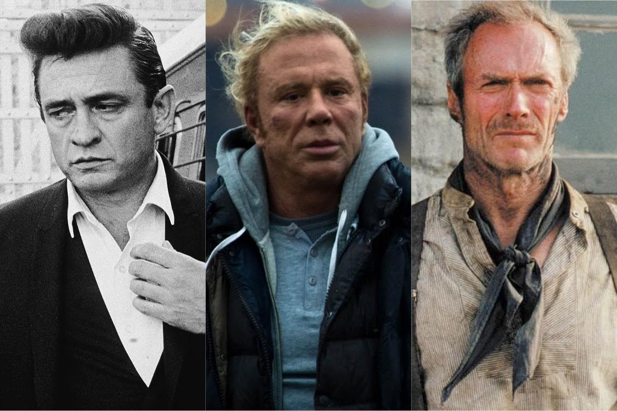 Johnny Cash, Michey Rourke e Clint Eastood: as inspirações de Hugh Jackman em 'Logan' (Foto: Getty e divulgação)