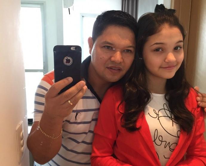 Ana Rosa com o pai (Foto: Arquivo pessoal)