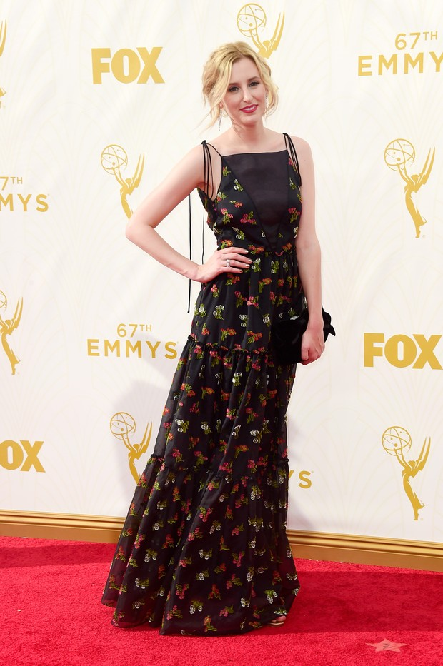 Laura Carmichael no Emmy Awards (Foto: Getty Images)