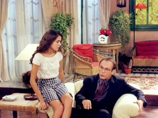 Deborah Secco interpreta a filha do personagem de José Wilker (Foto: CEDOC/TV Globo)