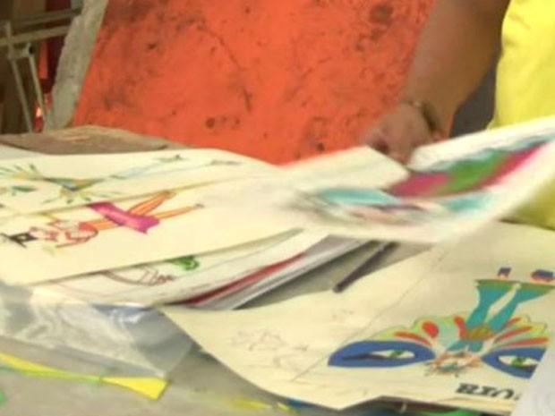 As fantasias que Moura desenhou acabaram ficando no papel  (Foto: BBC)