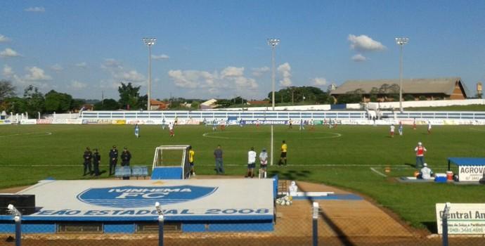 Estádio Saraivão, em Ivinhema (Foto: Liziane Zarpelon/TV Morena)