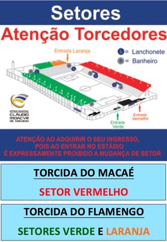 setores do estádio cláudio moacyr de azevedo, o moacyrzão (Foto: Divulgação)