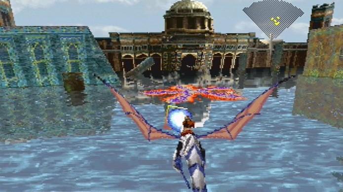 Panzer Dragoon fazia jogadores voarem por grandes ambientes em 3D montados em um dragão (Foto: Reprodução/Hardcore Gaming 101)